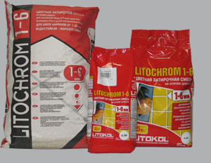 Затирочные смеси межплиточных швов LITOCHROM 1-6