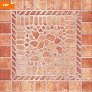 Напольная плитка Помпей коричневый 33х33