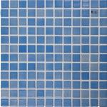Мозаика стеклянная, голубой дымчатый