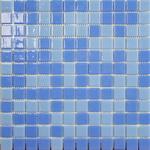 Мозаика стеклянная Mixed, смесь васильковый - голубой