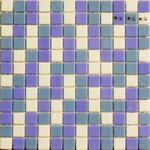 Мозаика стеклянная Mixed, смесь белый – голубой - васильковый