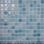 Мозаика стеклянная противоскользящая, бирюзовый дымчатый