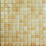 Мозаика стеклянная противоскользящая, бежевый дымчатый