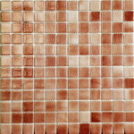 Мозаика стеклянная противоскользящая, коричневый дымчатый