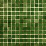 Мозаика стеклянная противоскользящая, зелёный дымчатый