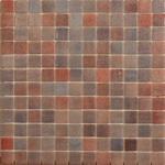 Мозаика стеклянная противоскользящая, коричневый микс