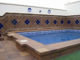 Клинкерная плитка вокруг бассейна интерьер внутри помещения