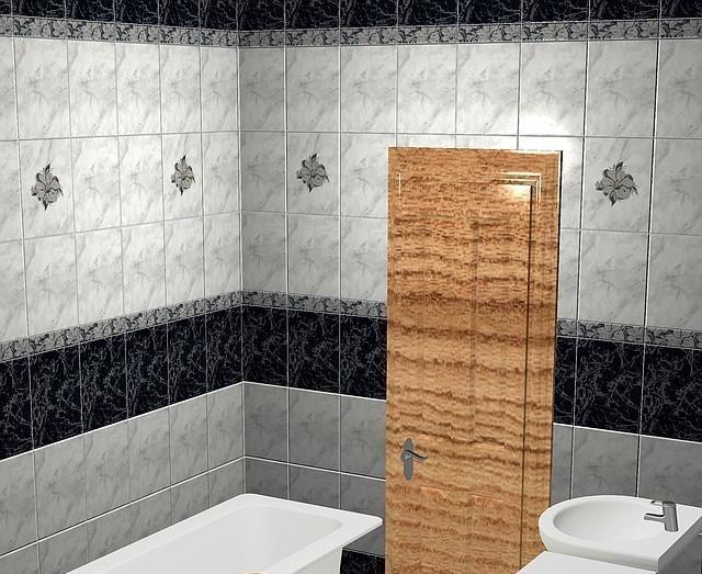 Интерьер плитка Фабрицио чёрный