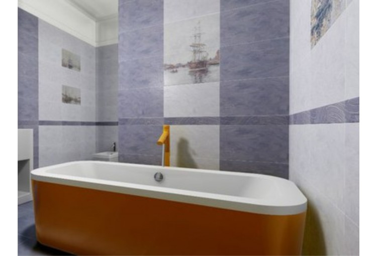 Интерьер плитка Normandie blue