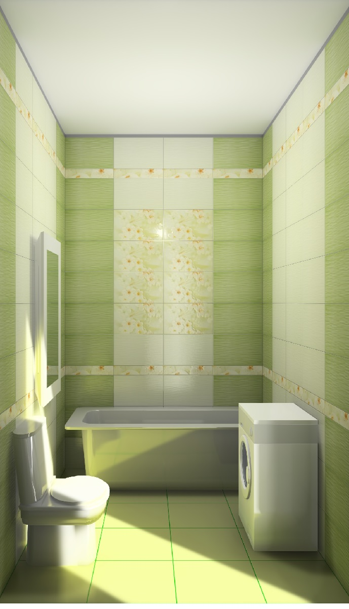 Интерьер плитка Сакура зеленый
