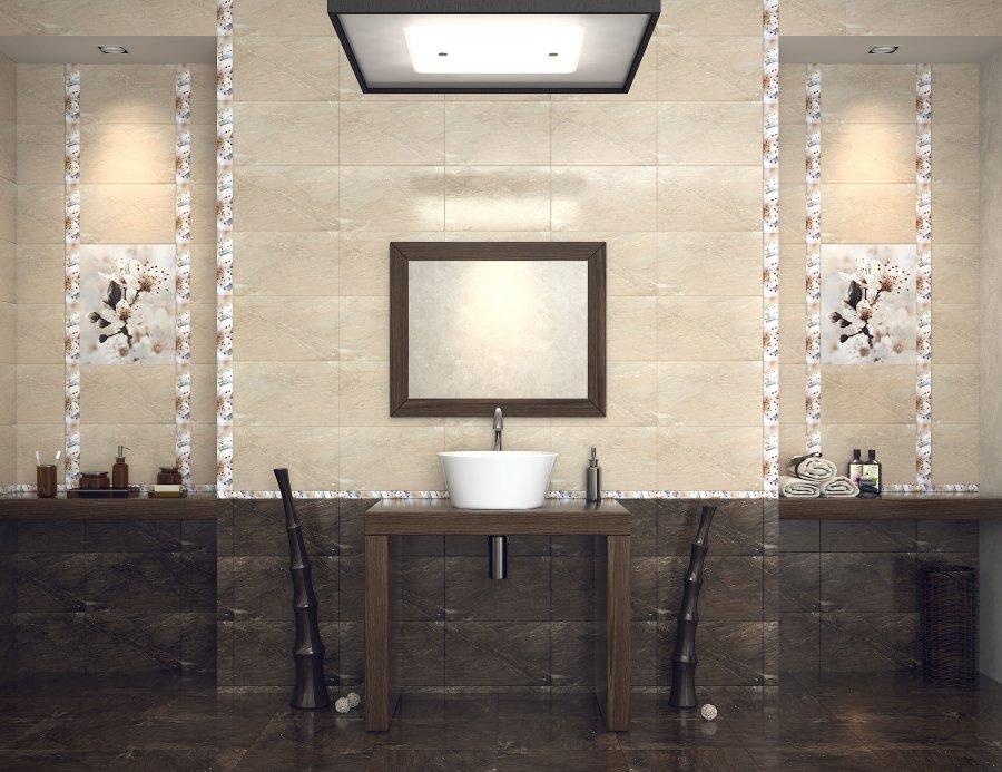 Интерьер плитка Сакура коричневый