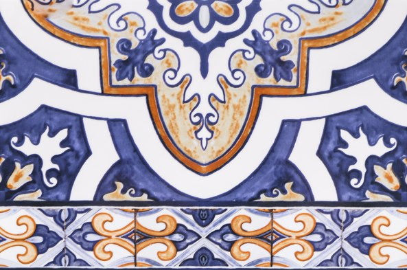 Керамическая плитка Андалусия син низ 03 20х30