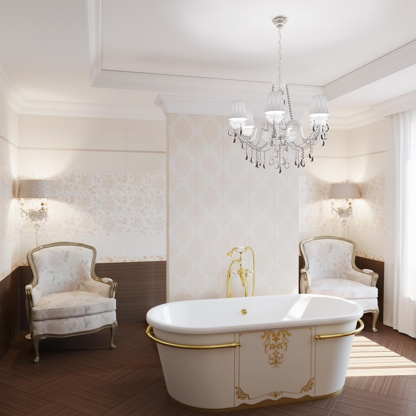 Интерьер плитка Fabric beige 25х60