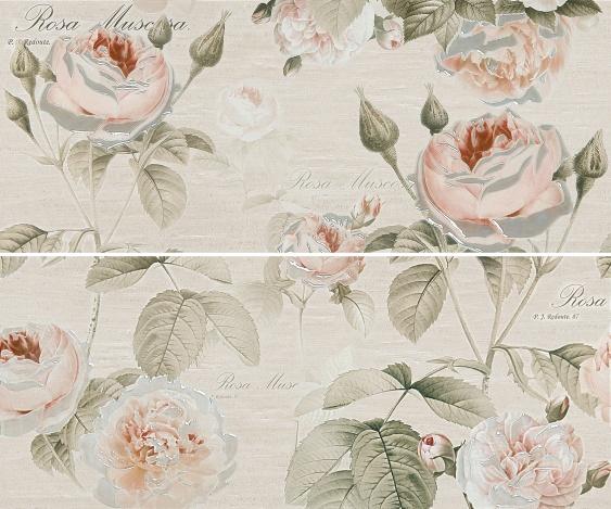 Панно Garden Rose beige panno 01 25х60