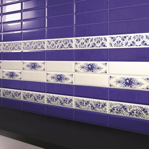 Интерьер плитка Metro cobalt 01 10x30
