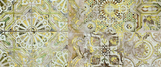 Patchwork beige decor 01 25х60