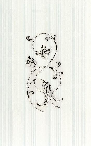 Декор Анжер голубой 01