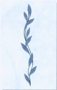Керамическая плитка Каррара декор ветка 20х30