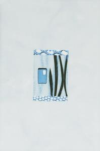Керамическая плитка Каррара  декор водоросли 20х30