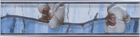 Керамическая плитка Каррара бордюр цветущая сакура 5,7х20