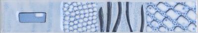 Керамическая плитка Каррара бордюр водоросли 3,5х20
