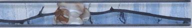 Керамическая плитка Каррара бордюр цветущая сакура 3,5х20