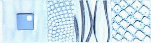 Керамическая плитка Каррара бордюр водоросли 5,7х20
