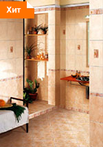 Коллекция плитка для ванной комнаты Каррара палевый 20х30