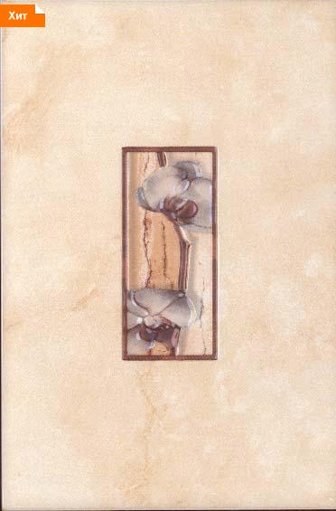 Керамическая плитка Каррара палевая декор цветущая сакура 20х30