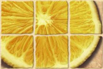Декор лемон Coctail (Коктейль) бежевый 20х30