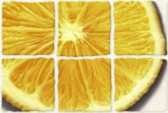 Декор лемон Coctail (Коктейль) светло-бежевый 20х30