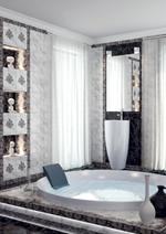 Коллекции плитка для ванной комнаты Фабрицио чёрный 25х33