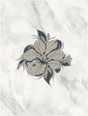 Декор Фабрицио чёрный 01 25х33