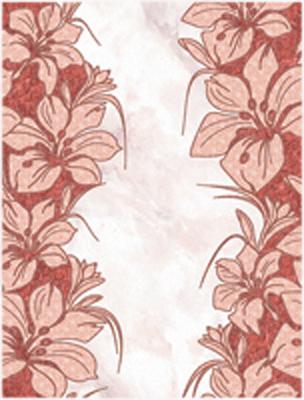 Декор Фабрицио красный 02 25х33