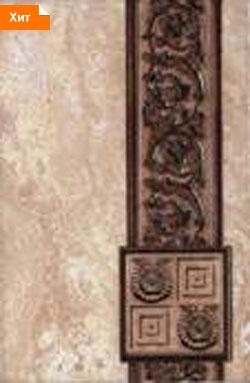 Керамическая плитка Иберия коричневый декор 20х30
