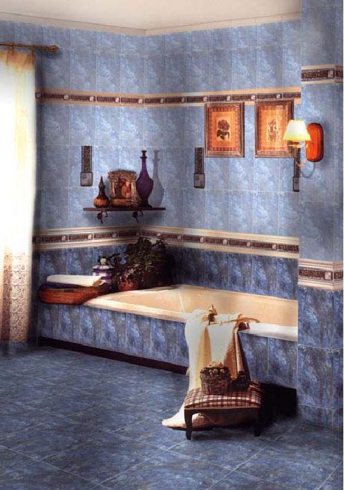 Интерьер керамическая плитка Иберия синий 20х30