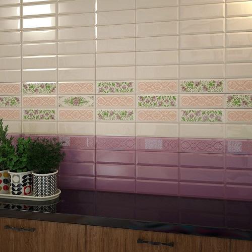 Интерьер плитка Metro coral 01 10x30