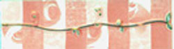 Керамическая плитка Муаре розовый бордюр 5,8х20