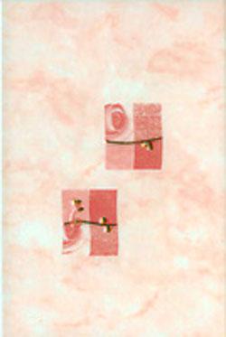 Керамическая плитка Муаре розовый декор 20х30