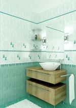 Коллекция плитка для ванной комнаты Муаре бирюзовая 20х30