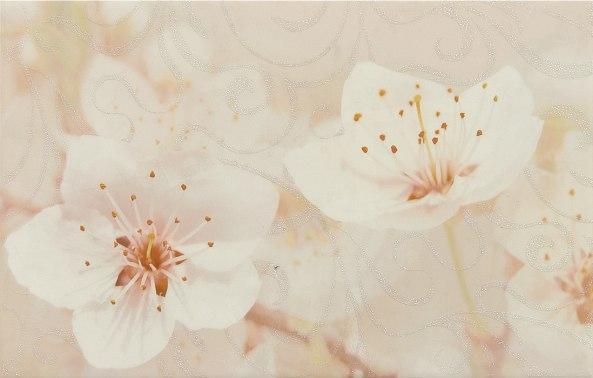 Сакура коричневый декор 03