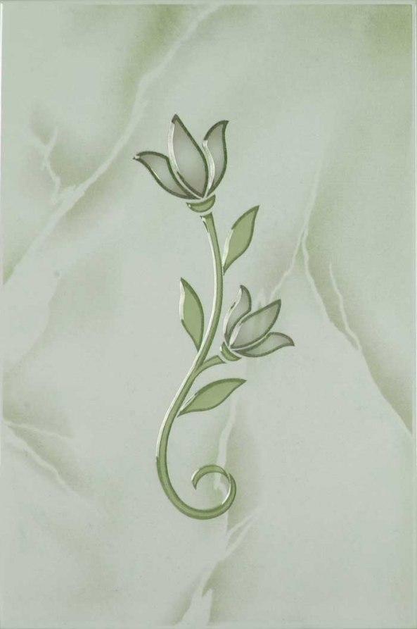 Тюльпан декор зеленый