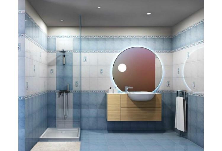 Интерьер плитка Венера голубая 20х30