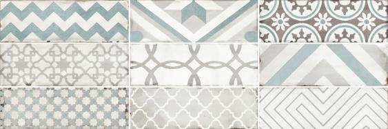 Настенная плитка Collage white wall 01 10х30