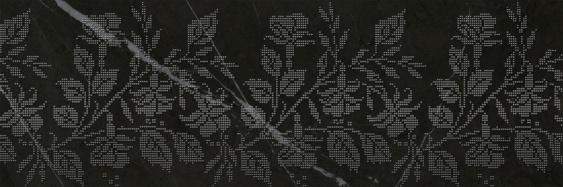 Настенный декор Geneva black decor 01 25х75